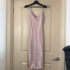 Lulus cowl neck satin dress